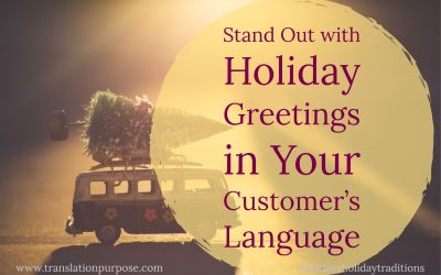 Seasonal Greetings for your International Customers