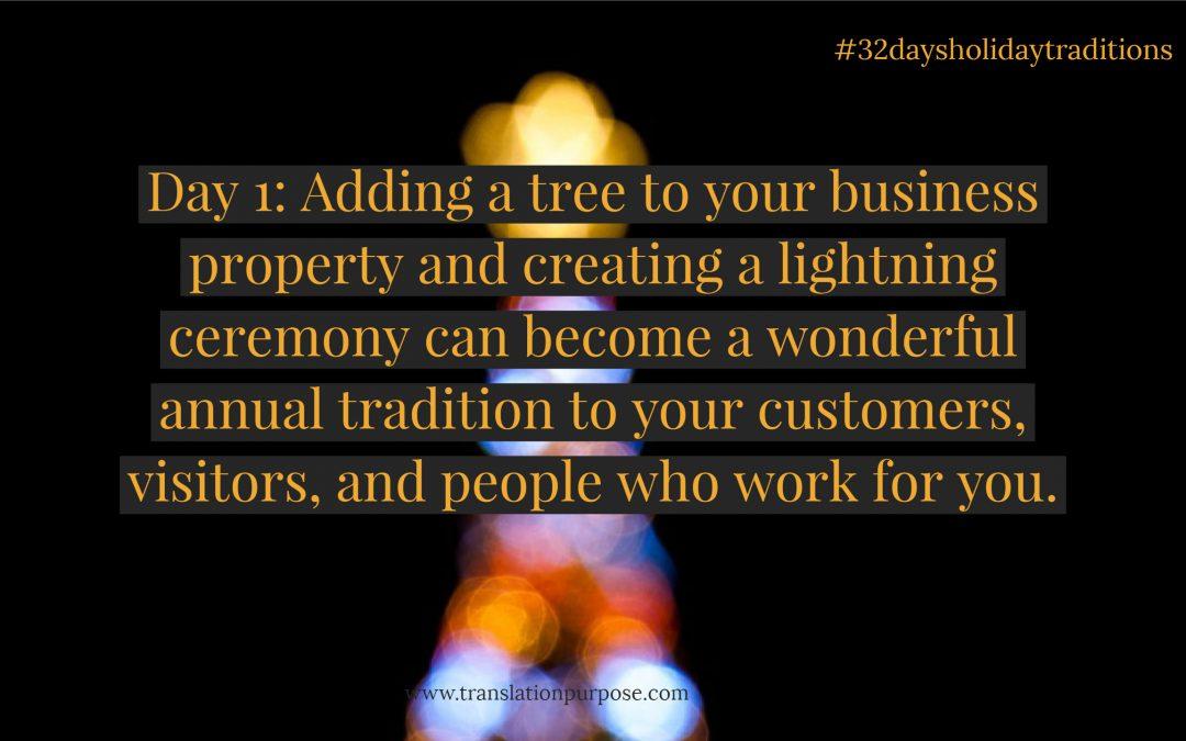 Tree Lighting with an Attitude